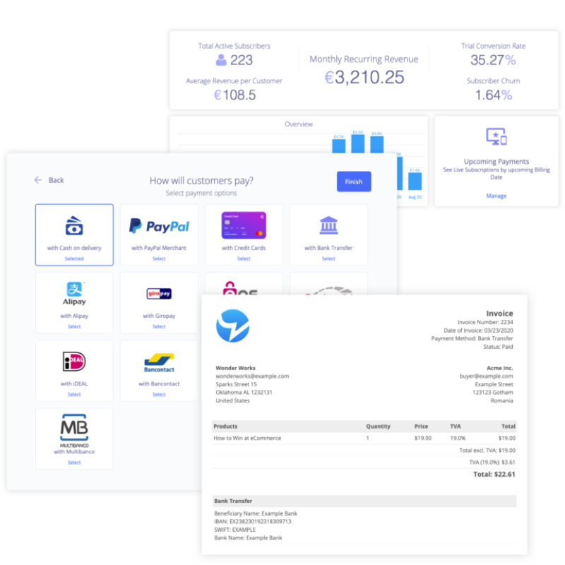 plug&paid checkout pages