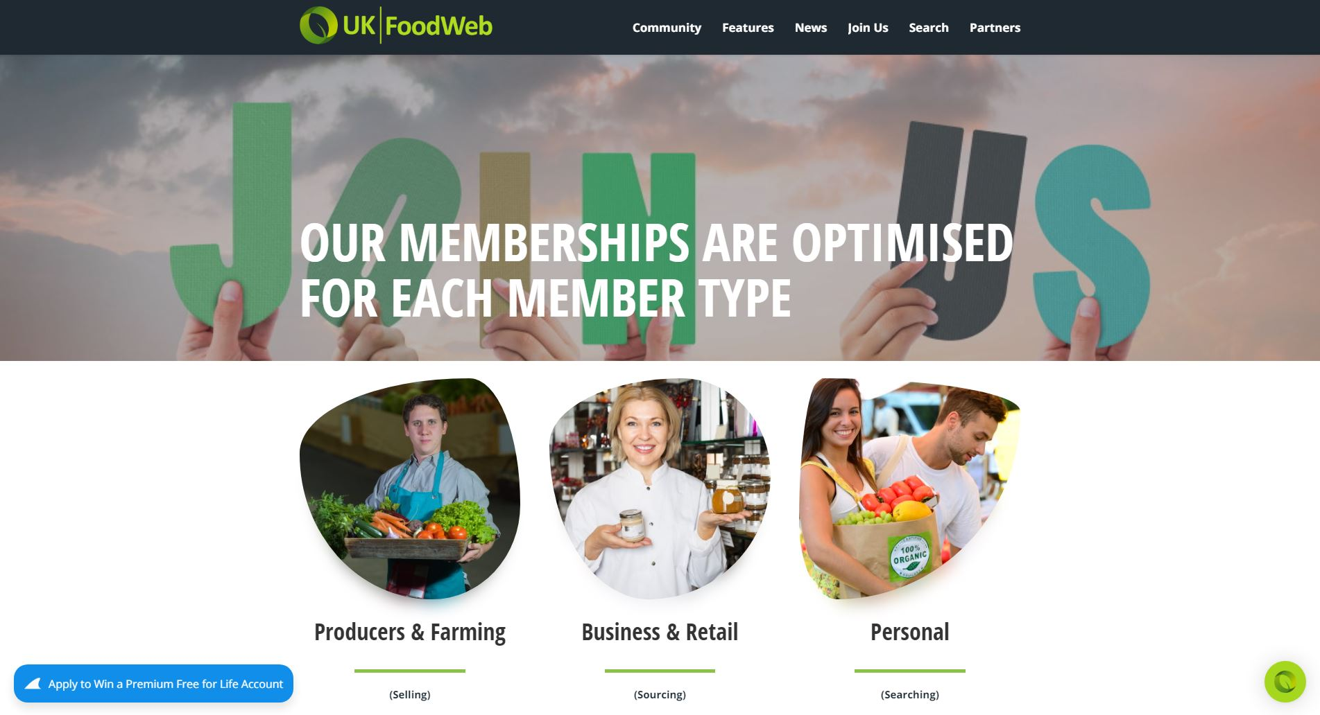 UKfoodWeb subscriptions Page